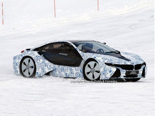 2014 Bmw I8 Spied Testing In The Snow Kelley Blue Book