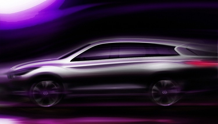 2012 Infiniti JX three-row crossover sketch