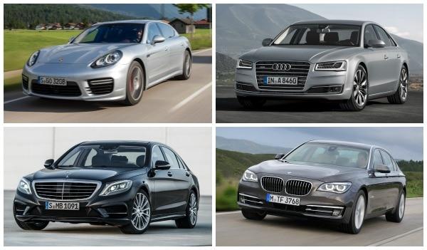 Four German Luxury Sedans