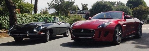 2014 Jaguar F-Type meets 1966 Jaguar E-Type