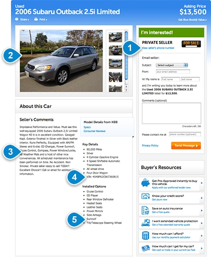 Car For Sale Ads Example