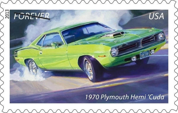 classic american muscle cars live on forever stamps kelley blue book. Black Bedroom Furniture Sets. Home Design Ideas