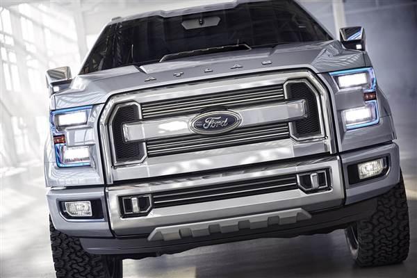 Ford Atlas Concept Hints at 2015 F-150 - Detroit 2013 - Kelley Blue