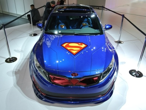 Revealed Kia Optima Hybrid Superman Concept Chicago 2017