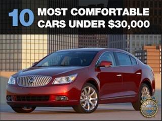 10 most comfortable cars under 30 000 kelley blue book. Black Bedroom Furniture Sets. Home Design Ideas