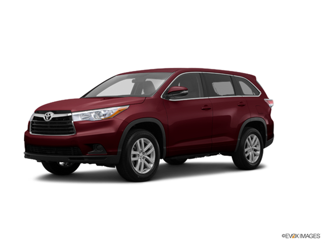 best safety rated suvs of 2015 toyota highlander kelley blue book. Black Bedroom Furniture Sets. Home Design Ideas