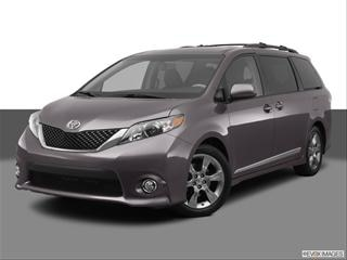 2012 Toyota Sienna 4-door   Van Front angle medium view photo