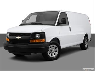 2013 Chevrolet Express 1500 Cargo Front angle medium view