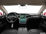 2013 Tesla Model S Dashboard, center console, gear shifter view photo