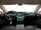 2013 Tesla Model S Dashboard, center console, gear shifter view