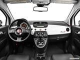 2013 FIAT 500 Dashboard, center console, gear shifter view