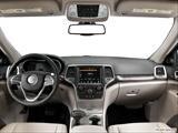 2014 Jeep Grand Cherokee Dashboard, center console, gear shifter view