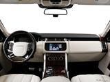 2014 Land Rover Range Rover Dashboard, center console, gear shifter view