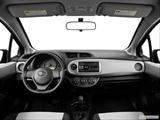 2014 Toyota Yaris Dashboard, center console, gear shifter view