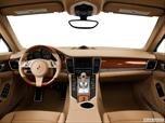 2014 Porsche Panamera Dashboard, center console, gear shifter view photo
