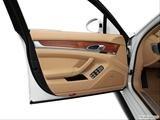 2014 Porsche Panamera Inside of driver's side open door, window open