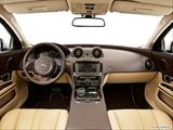 2014 Jaguar XJ Series Dashboard, center console, gear shifter view