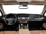 2014 Lexus LS Dashboard, center console, gear shifter view