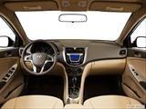2014 Hyundai Accent Dashboard, center console, gear shifter view
