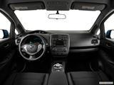 2014 Nissan LEAF Dashboard, center console, gear shifter view
