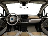 2014 BMW i3 Dashboard, center console, gear shifter view