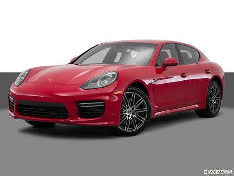 2014 Porsche Panamera 4-door Turbo  Sedan Front angle medium view photo
