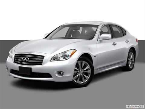 2013 Infiniti M 4-door M35h  Sedan Front angle medium view photo