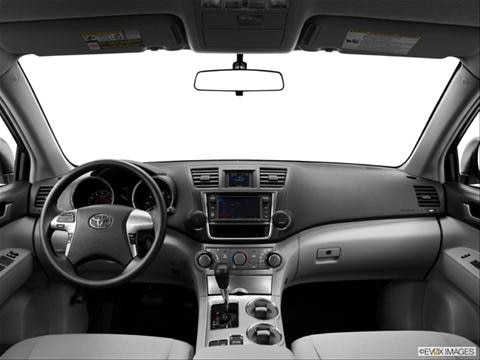 2013 Toyota Highlander 4-door   Sport Utility Dashboard, center console, gear shifter view photo