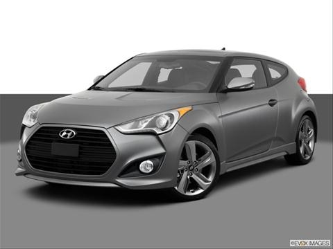 2013 Hyundai Veloster 3-door Turbo  Coupe Front angle medium view photo