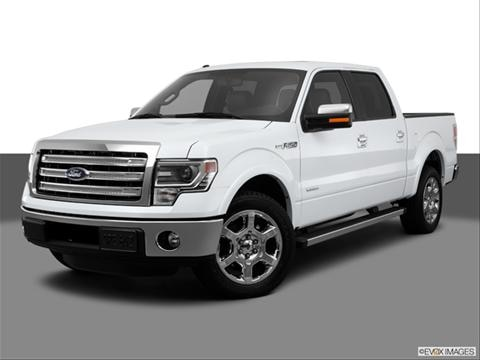 2013 Ford F150 SuperCrew Cab 4-door Lariat  Pickup Front angle medium view photo