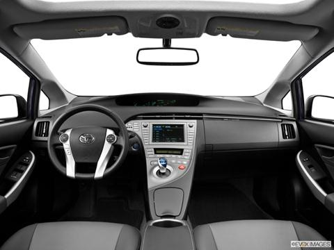 2013 Toyota Prius 4-door Four  Hatchback Dashboard, center console, gear shifter view photo