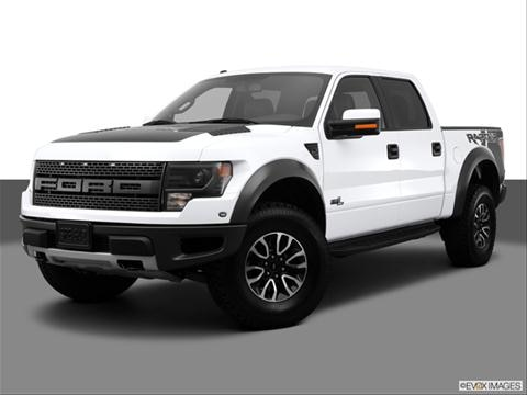 2013 Ford F150 SuperCrew Cab 4-door SVT Raptor  Pickup Front angle medium view photo