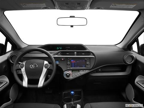 2013 Toyota Prius c 4-door Four  Hatchback Dashboard, center console, gear shifter view photo