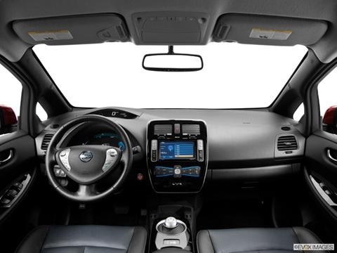 2013 Nissan LEAF 4-door SV  Hatchback Dashboard, center console, gear shifter view photo