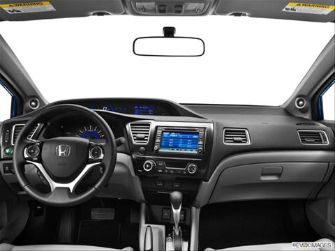 2013 Honda Civic 2-door EX-L  Coupe Dashboard, center console, gear shifter view photo