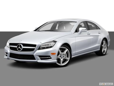 2014 Mercedes-Benz CLS-Class 4-door CLS550 4MATIC  Coupe Front angle medium view photo