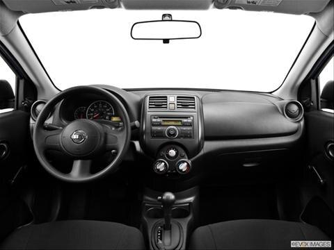 2014 Nissan Versa 4-door S  Sedan Dashboard, center console, gear shifter view photo