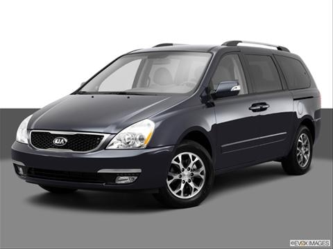 2014 Kia Sedona 4-door LX  Van Front angle medium view photo