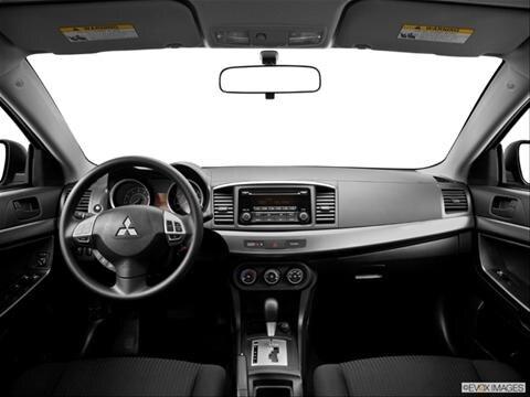 2014 Mitsubishi Lancer 4-door ES  Sedan Dashboard, center console, gear shifter view photo