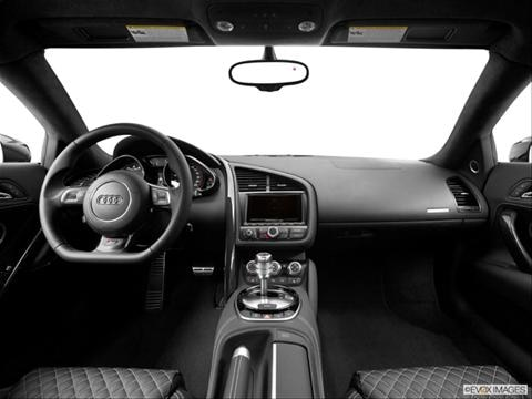 2014 Audi R8 2-door V8  Coupe Dashboard, center console, gear shifter view photo