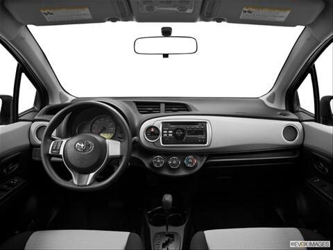 2014 Toyota Yaris 4-door L  Hatchback Sedan Dashboard, center console, gear shifter view photo