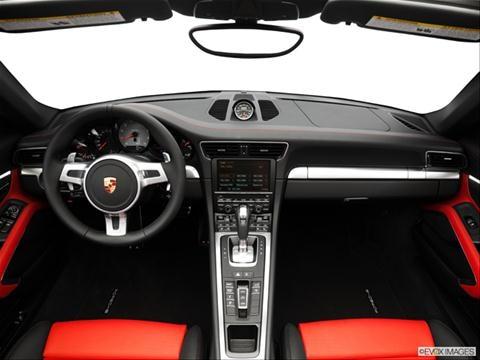 2014 Porsche 911 2-door Carrera 4  Cabriolet Dashboard, center console, gear shifter view photo