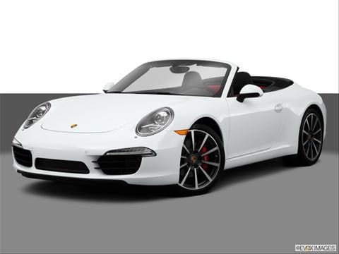 2014 Porsche 911 2-door Carrera 4  Cabriolet Front angle medium view photo