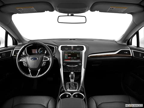 2014 Ford Fusion 4-door SE Hybrid  Sedan Dashboard, center console, gear shifter view photo