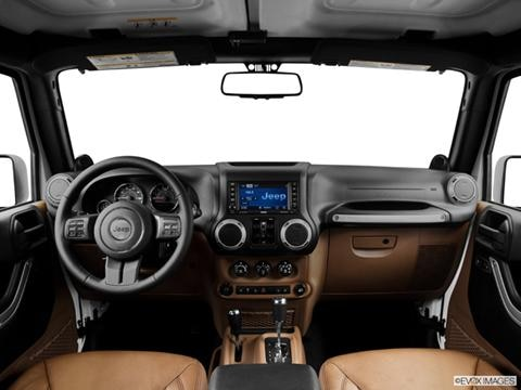 2014 Jeep Wrangler 4-door Unlimited Rubicon X  Sport Utility Dashboard, center console, gear shifter view photo
