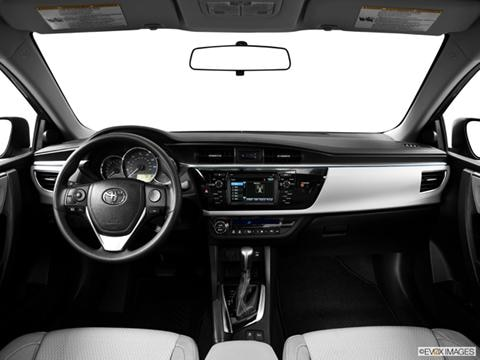 2014 Toyota Corolla 4-door LE Eco  Sedan Dashboard, center console, gear shifter view photo