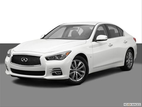 2014 Infiniti Q50 4-door 3.7  Sedan Front angle medium view photo