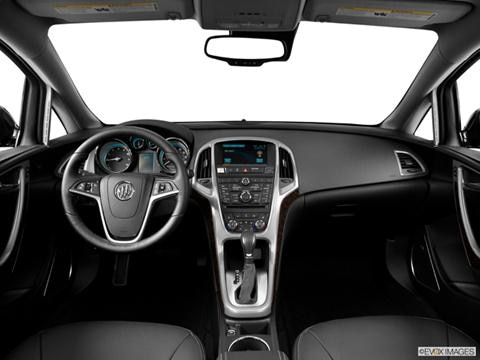 2014 Buick Verano 4-door Leather Group  Sedan Dashboard, center console, gear shifter view photo