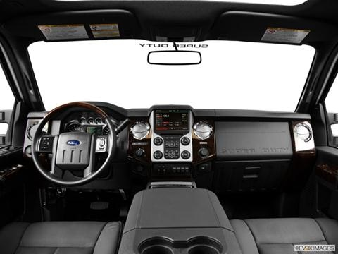 2014 Ford F250 Super Duty Crew Cab 4-door XLT  Pickup Dashboard, center console, gear shifter view photo