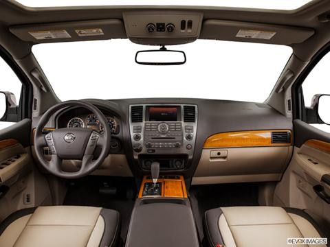 2014 Nissan Armada 4-door SV  Sport Utility Dashboard, center console, gear shifter view photo